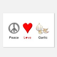 Peace Love Garlic Postcards (Package of 8)