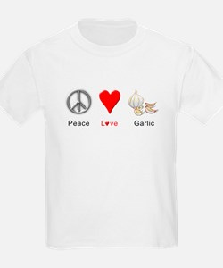 Peace Love Garlic T-Shirt