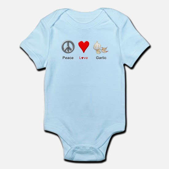 Peace Love Garlic Infant Bodysuit