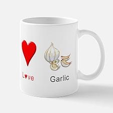 Peace Love Garlic Mug
