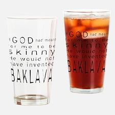 Black God Skinny Baklava Drinking Glass