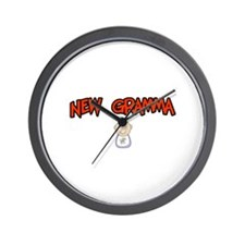 Funny Proud new grammy Wall Clock