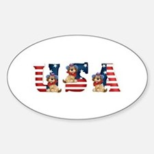 USA DOGS Oval Decal