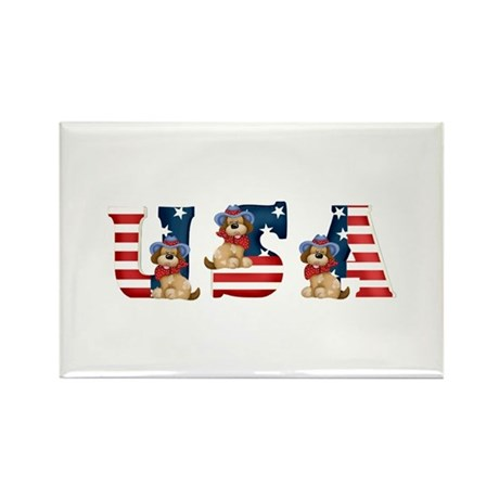 USA DOGS Rectangle Magnet