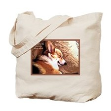 Cute Pembroke welsh corgi Tote Bag