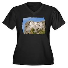 Rushmore 1662 Women's Plus Size V-Neck Dark T-Shir