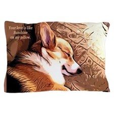 Cute Pet valentines Pillow Case