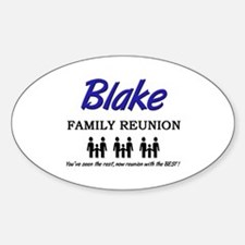 Blake Family Reunion Oval Decal