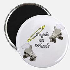 Angels on Wheels Skating Magnet