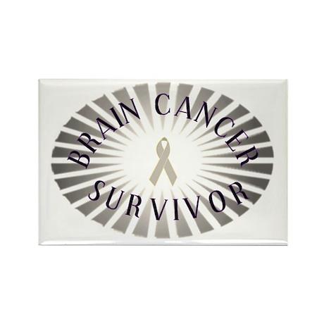 BRAIN CANCER SURVIVOR Rectangle Magnet (100 pack)