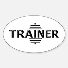 Power Trainer (Embossed Font) Oval Decal