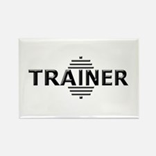 Power Trainer (Embossed Font) Rectangle Magnet