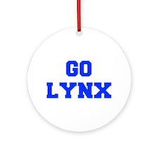 Lynx-Fre blue Ornament (Round)
