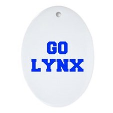 Lynx-Fre blue Ornament (Oval)