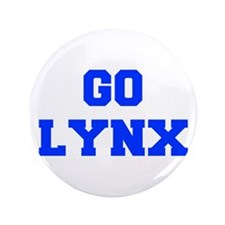 "Lynx-Fre blue 3.5"" Button"
