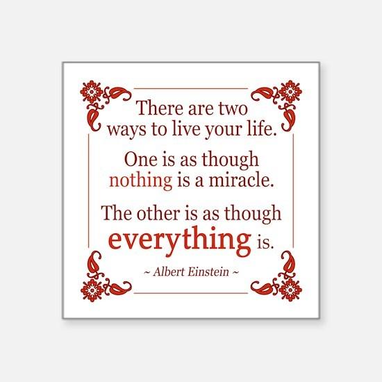 Einstein on Miracle Sticker