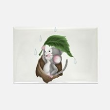 GREY MOUSE Rectangle Magnet