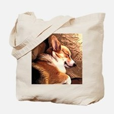 Sleepy Tricolor Corgi Tote Bag