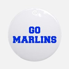 Marlins-Fre blue Ornament (Round)