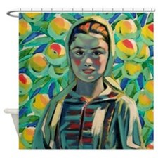 Peasant Girl Shower Curtain