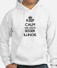 Keep calm we live in Sesser Illi Hoodie