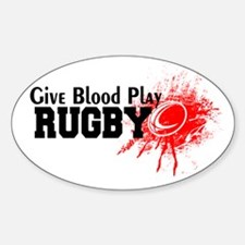 Give Blood Play Rugby Decal