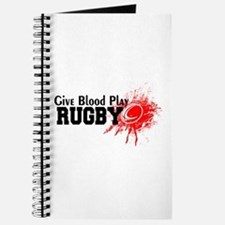 Give Blood Play Rugby Journal