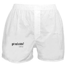 Got real estate? Call me! Boxer Shorts