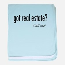 Got real estate? Call me! baby blanket