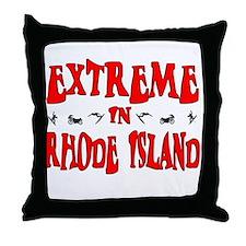 Extreme Rhode Island Throw Pillow