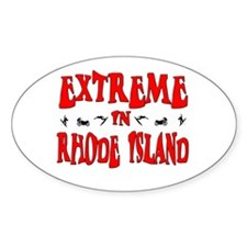 Extreme Rhode Island Oval Decal