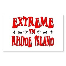 Extreme Rhode Island Rectangle Decal