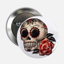 "Sugar Skull 034 2.25"" Button"