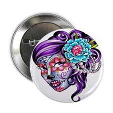 "Sugar Skull 039 2.25"" Button"