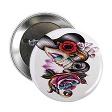 "Sugar Skull 026 2.25"" Button"