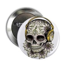 "Sugar Skull 008 2.25"" Button"