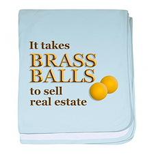 Brass Balls baby blanket