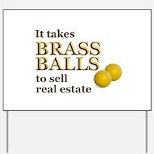 Brass Balls Yard Sign