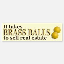 Brass Balls Bumper Bumper Bumper Sticker