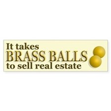 Brass Balls Bumper Bumper Sticker