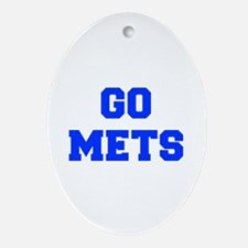 mets-Fre blue Ornament (Oval)