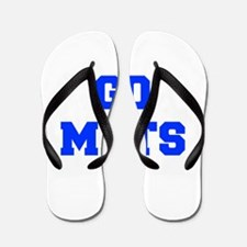 mets-Fre blue Flip Flops