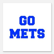 "mets-Fre blue Square Car Magnet 3"" x 3"""