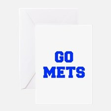 mets-Fre blue Greeting Cards