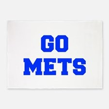 mets-Fre blue 5'x7'Area Rug