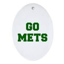 mets-Fre dgreen Ornament (Oval)