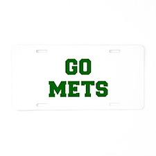 mets-Fre dgreen Aluminum License Plate