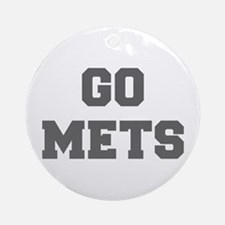 METS-Fre gray Ornament (Round)