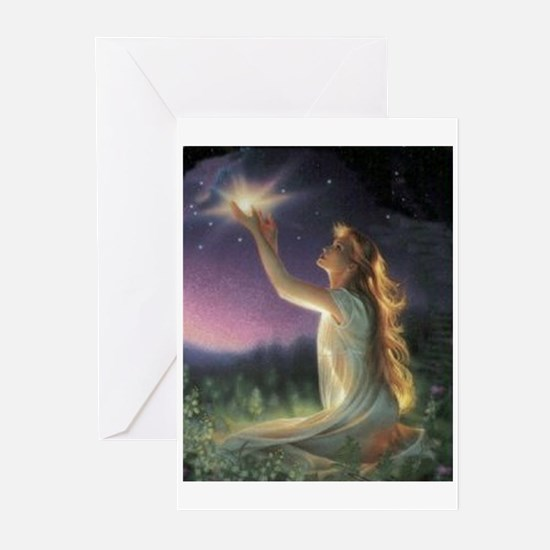 Wishes Amongst The Stars Greeting Cards (Package o