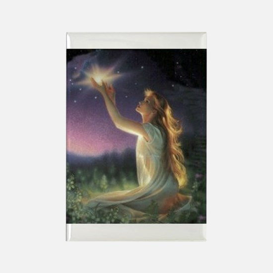 Wishes Amongst The Stars Rectangle Magnet